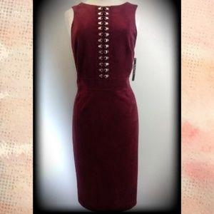 NWT$199 Tahari Stevie Suede Feel Sexy Sheath Dress